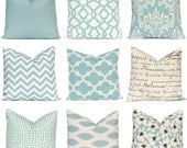 Pillow Covers - Home Decor - Decorative Pillow Covers - Village Blue Throw Pillow Covers - Blue Cushion Covers - Blue Chevron Pillow Cover