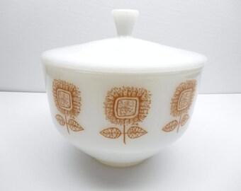 Vintage Federal Glass Lidded Dish