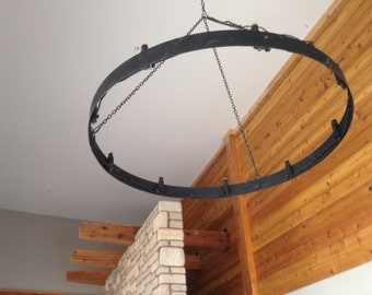 "Metal chandelier hoop in 48, 60 or 72"" diameter"