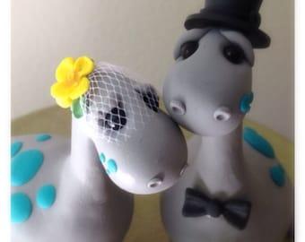 Dino Love Custom Keepsake Wedding Cake Topper handmade