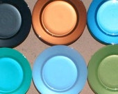CUSTOM GLASS PLATES in Gorgeous Oceana Color