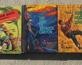 mid century boys mystery books troy nesbit power boys famous investigators whitman gift idea