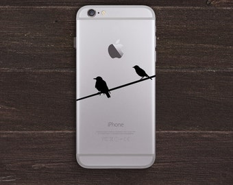 Birds on a Wire Vinyl iPhone Decal BAS-0115