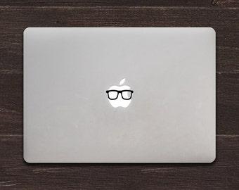 Hipster Glasses Vinyl MacBook Decal BAS-0213