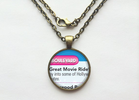 The Great Movie Ride Necklace from Walt Disney World Hollywood Studios Park Map