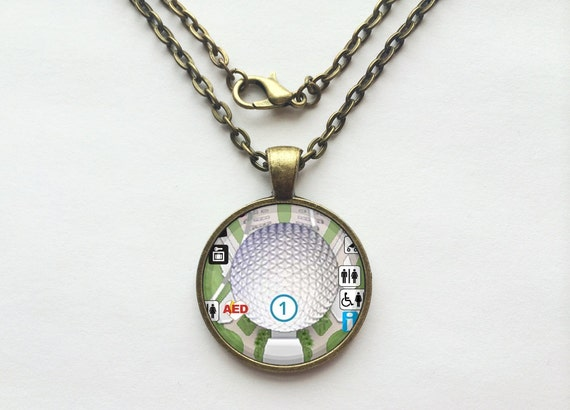 Spaceship Earth Attraction Necklace from Walt Disney World Epcot Park Map