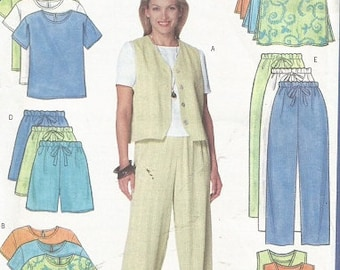 Butterick 6018 Misses Separates Pattern SZ 8-12 (Skirt, Pants, Shorts, Vest,, Top )