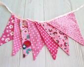 Birthday banner fabric  girl, Pink fabric,  ,christmas decor, christmas decoration,  dots, floral, Christmas decorations, christmas flags