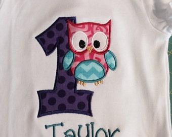 Owl Birthday Shirt, Cute Owl Shirt, Owl 1st Birthday, Any Owl Birthday, Cute Owl Birthday, Owl Birthday Present, Owl Lover, Cool Owl Shirt