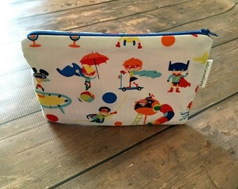 Pencil Case/Cosmetic Bag/ Gadget Case -  Superheroes - Ready to Ship