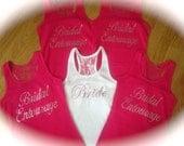 set of 5 Bridesmaid Tank Tops. Bachelorette Party Shirts. Bachelorette gift. Wedding Party Shirts. Bridesmaid Tank Tops. Weddings. Bride.