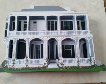 Vintage Hand Signed Sheila House Charleston South Carolina Queen Anne Made in the USA Three Dimensional