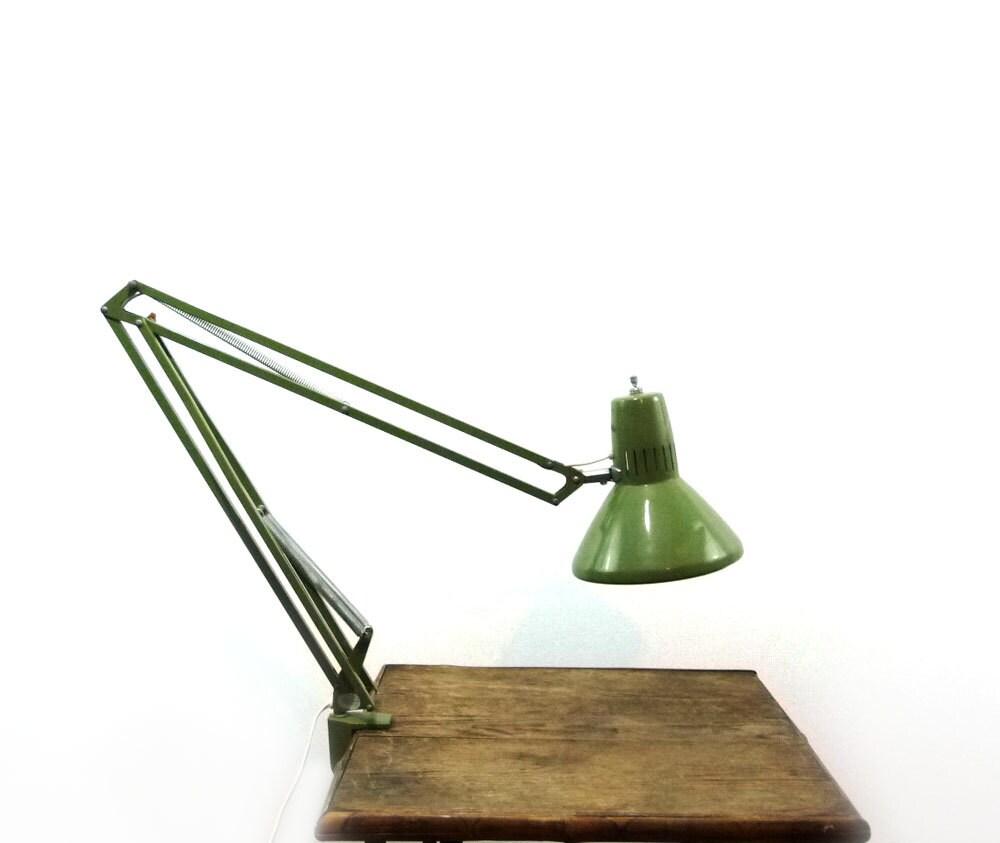 ledu vert vintage swing lampe pince bras. Black Bedroom Furniture Sets. Home Design Ideas