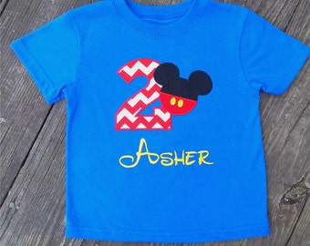 Mouse Birthday Shirt, 1st, 2nd, 3rd- Applique, Customized, Embroidered, Name, Disney, Yellow Polka Dot