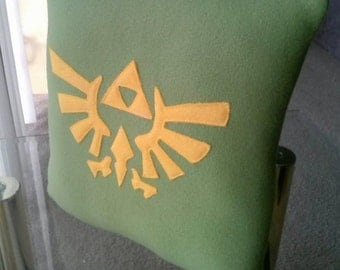 Legend of Zelda Triforce Themed Throw Pillow