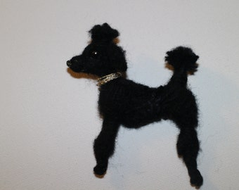 Unique Poodle Dog Brooch handmade and individual gift mothers day