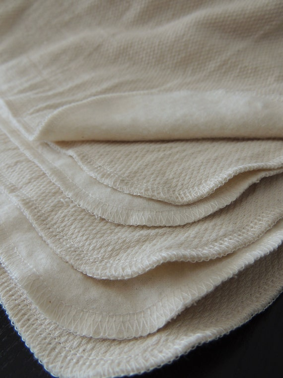 Heavy Duty UNPaper Towel 2 PLY Unbleached Birdseye Cotton and Unbleached Flannel