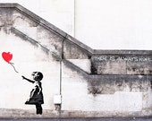 Banksy Canvas (READY TO HANG) - There is Always Hope - Multiple Canvas Sizes