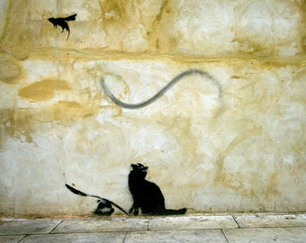 Banksy Print  - Cat and Mouse - Multiple Paper Sizes