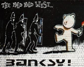Banksy Poster Print  - Mild Mild West  - Multiple Paper Sizes