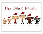 Family Christmas Cards, Christmas Greeting Card, Personalized Caricatures, Personalized Family Card, Unique Christmas Cards