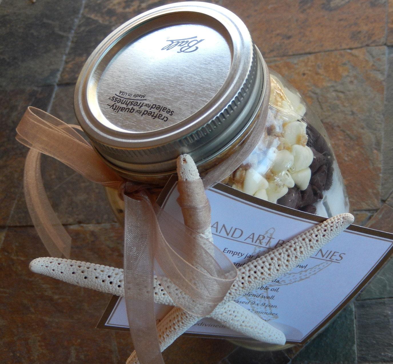 Sand Art Cake Mix : Sand Art Brownies Gourmet Mix in a Ball Mason by ...