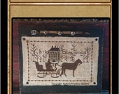 Christmas Blessings- Horse And Sleigh- Cross Stitch Pattern- Mailed Version