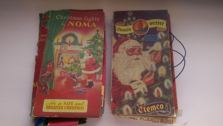Vintage Christmas Lights/Vintage Christmas Decor/Noma
