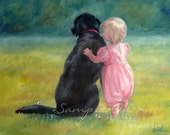 11x14 Custom Commissioned Painting from Your Photos in Watercolor or Oil by Janet Zeh