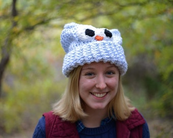 Adorable Owl Hat, Light Blue | Christmas Gifts/ Fall Fashion
