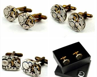 Groomsmen Gifts, Groomsmen Cufflinks, Wedding Cufflinks, Best Man Gift, Set of 3 Watch Cufflinks