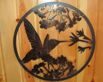 Hummingbird Metal Art sign