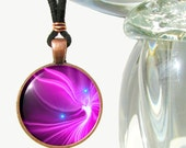 "Purple Chakra Healing Angel Pendant Necklace ""Acceptance"""