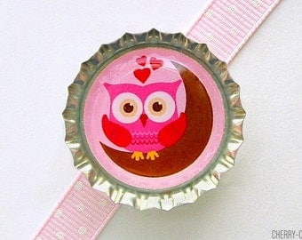 Night Owl Bottle Cap Magnet, owl magnet owl theme party supplies owl baby shower favor, owl decor, owl birthday party favor, owl party favor