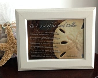 The Legend of the Sand Dollar White Framed Print