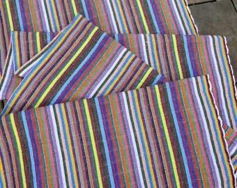 Guatemalan Fabric in Colorful Stripes