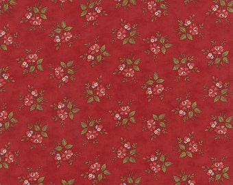 Atelier - Petite Bouquet in Scarlet by 3 Sisters for Moda Fabrics