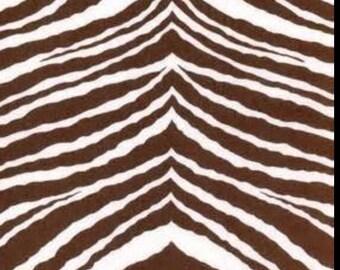 Jennifer Paganelli brown and white zebra print fabric 1 yard