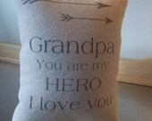 Grandpa pillow Valentines gift love throw pillow gramps gift sentimental I love you grandpa cotton canvas home decor  birthday gift