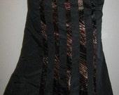 Italian DESIGNER Taffeta And VELVET Layered Skirt RENN Reenactment