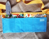 Garden Tool Belt (Pear print with blue fabric)