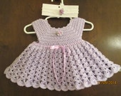 adorable crochet baby dress with matching headband