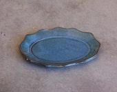 Ring Dish, Bridesmaid Gift Shower Favor Soap Dish Trinket Dish in Moody Blue