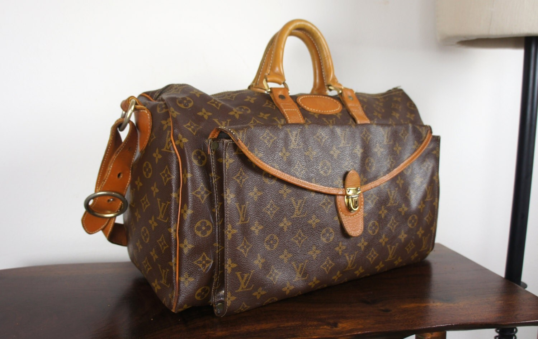 vintage louis vuitton french company carryall weekender bag. Black Bedroom Furniture Sets. Home Design Ideas