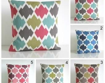 Decorative Pillow Cover, Ikat Pillow Cover, Ikat Cushion Cover, Ikat Pillows, Accent Pillows, Throw Pillows - Ikat Trellis