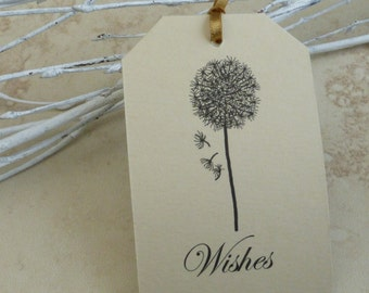 Dandelion Wish Tags, Wedding Wishing Tags Set Of 50