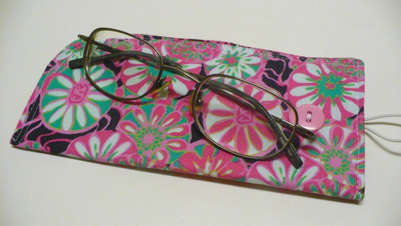 fabric eyeglass pink sunglass reading glasses