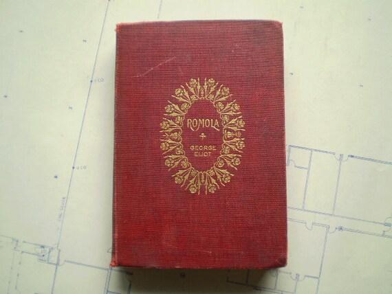 Romola - 1890 - by George Eliot - Antique Novel
