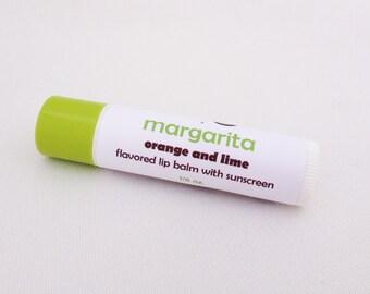 Margarita lip balm - lime and orange natural lip balm - Margarita flavored lip balm