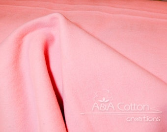 ORGANIC Fleece, Mod Basics Fleece, Solid Pink Fleece by Jay-Cyn Designs from Birch Fabrics, Fat Quarter, Half Yard or more
